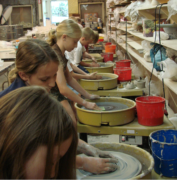 Children Making Pottery
